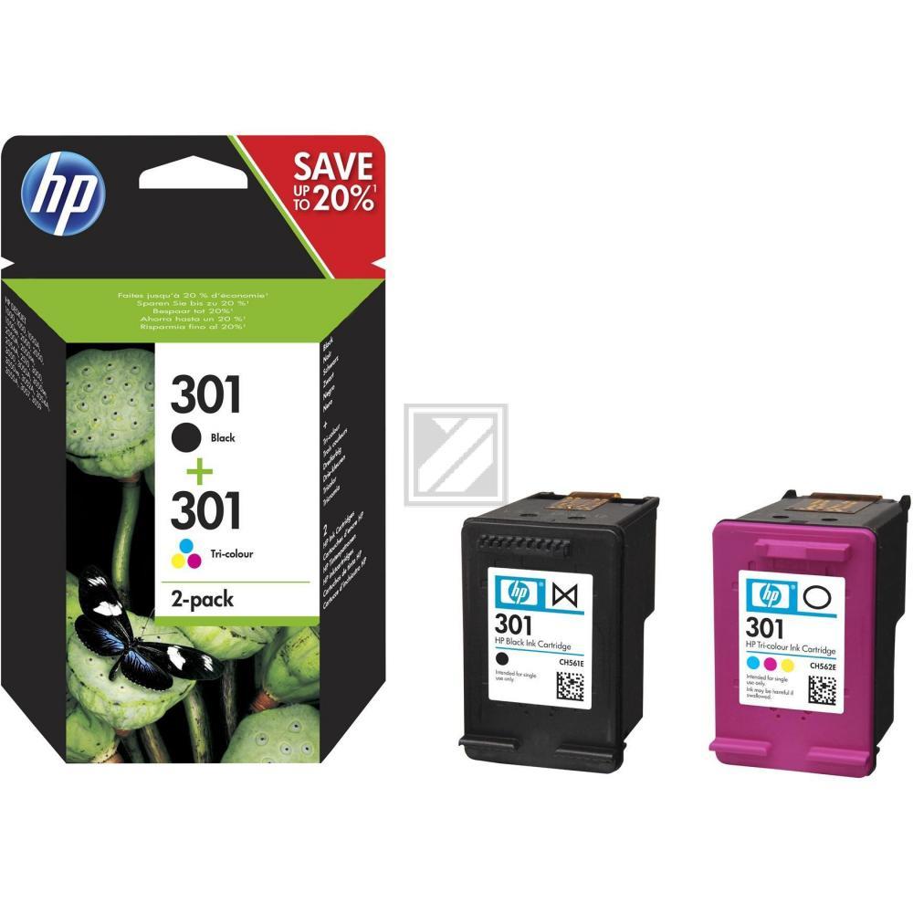 N9J72AE / Nr.301BKCo. Original Tinte Combopack fü / N9J72AE  / BK190 / C,M,Y165 Seiten