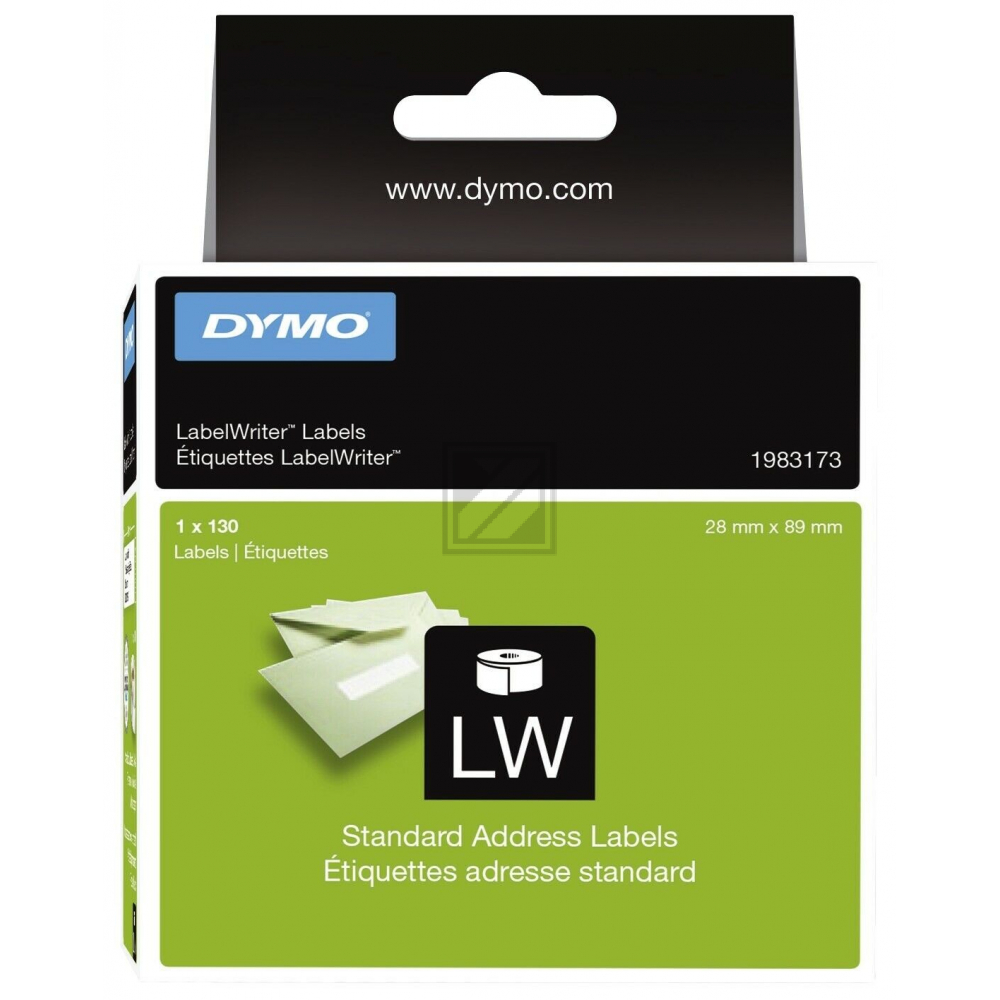 1983173 DYMO 28x89mm WEISS / 1983173