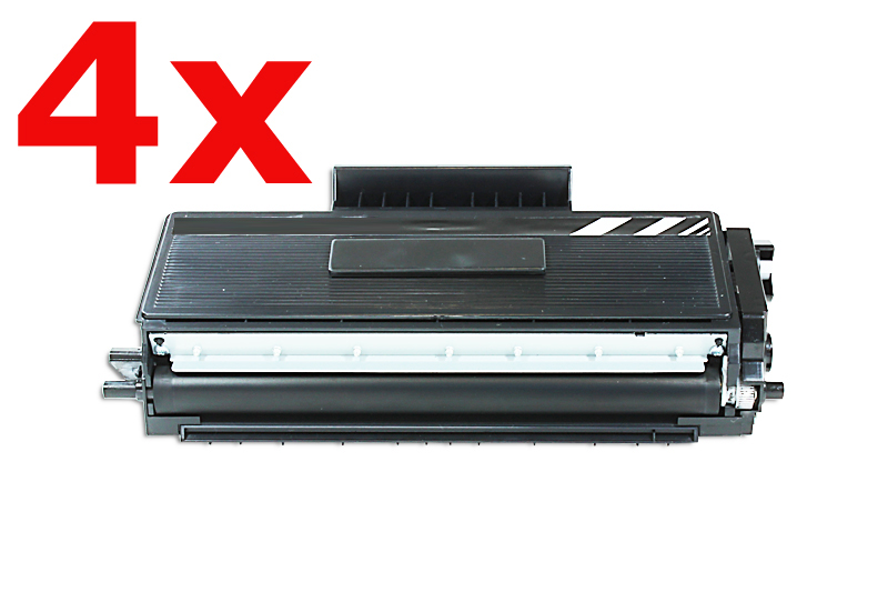 4er Set TONTN3280XXL Alternativ Toner Black für  B / TN3280XXL / 4x12.000 Seiten