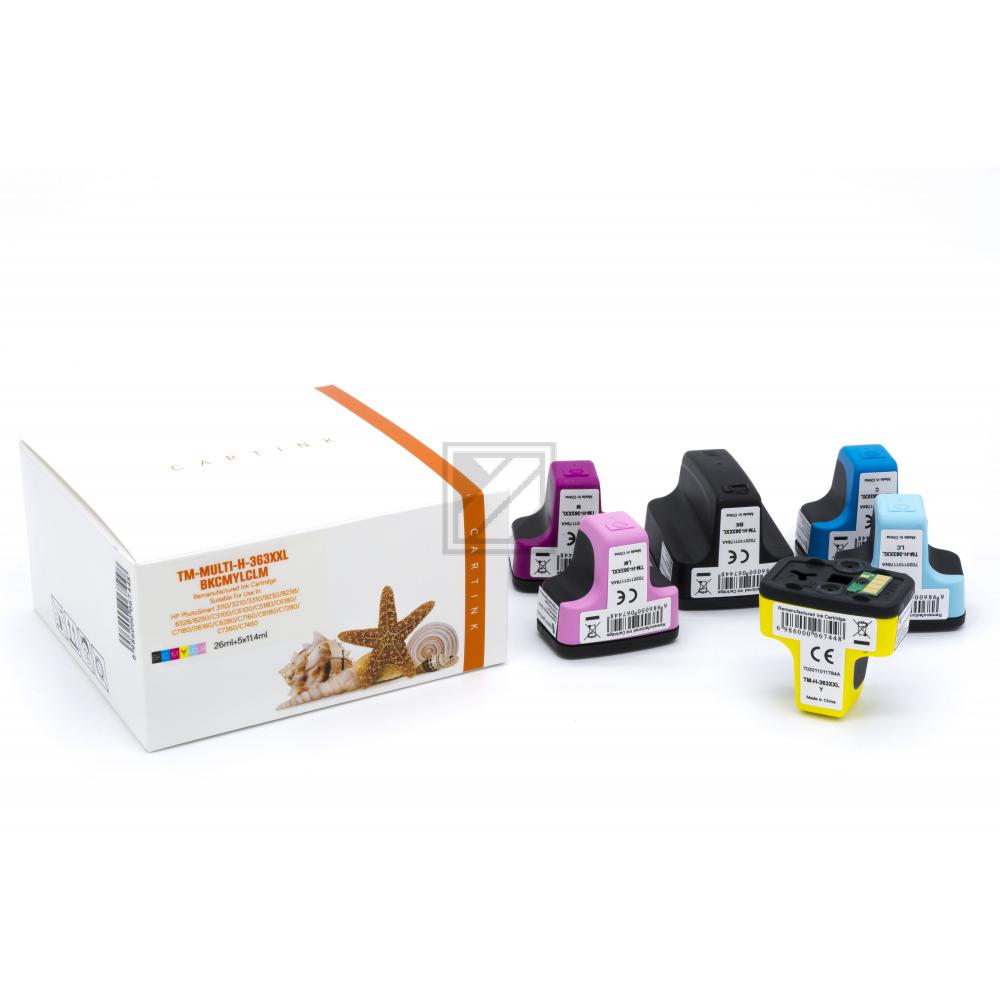 Alternativ Tinte für HP / CB333EE / BK38ml / C,M,Y,LC,LM11,4ml