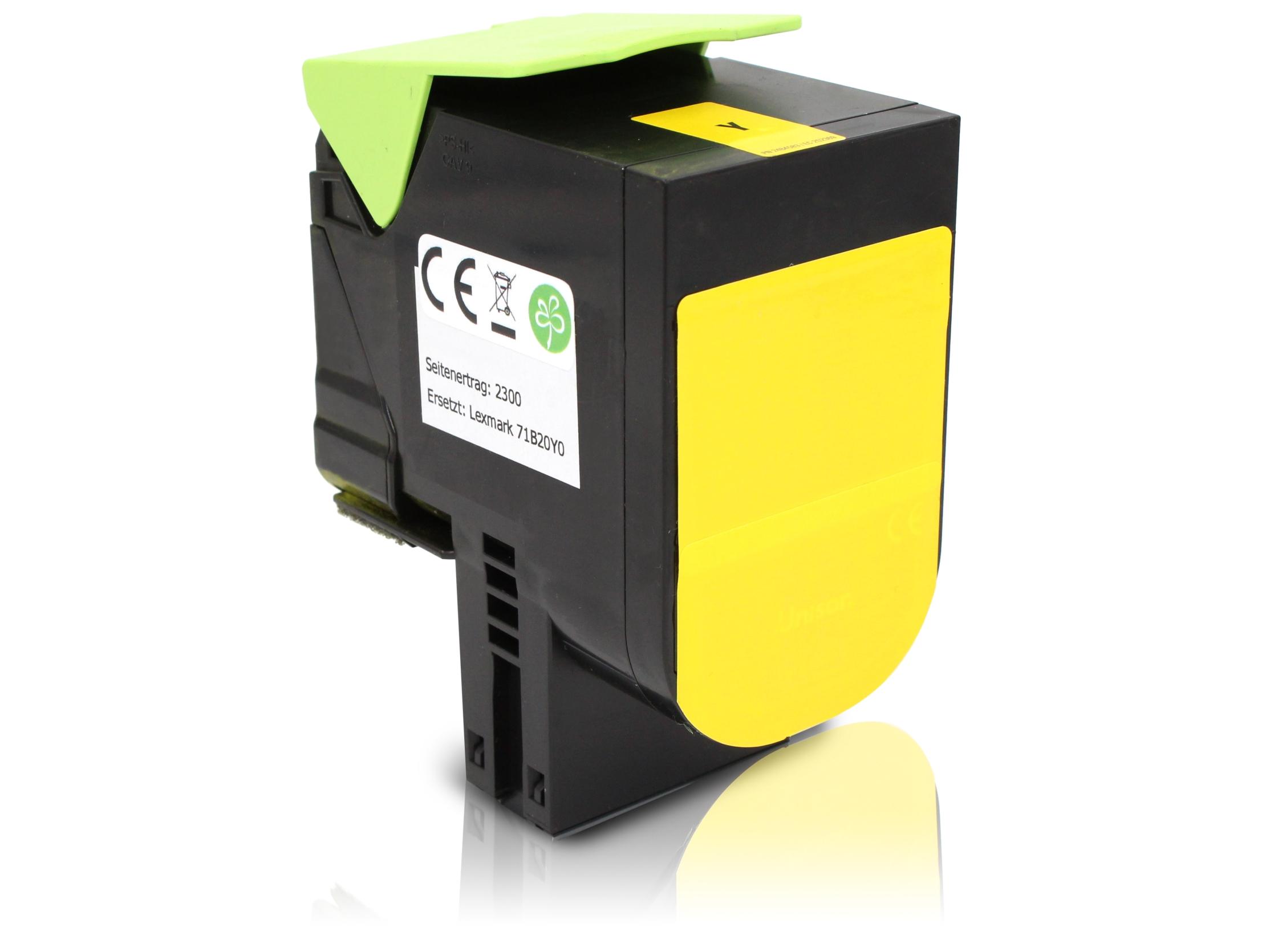 TONCS417Y Alternativ Toner Yellow für Lexmark / 71B2HY0 / 3.500 Seiten