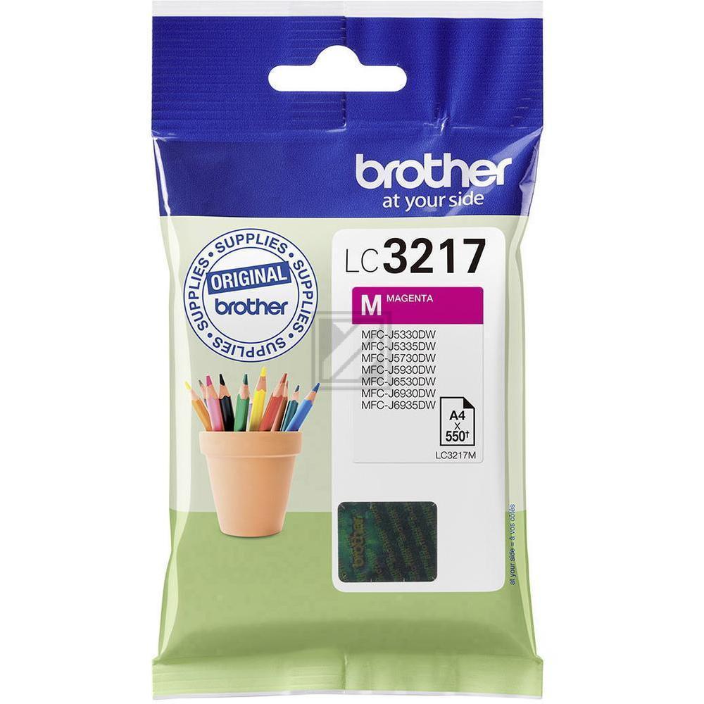LC3217M Original Tinte Magenta für Brother  / LC3217M / 550 Seiten