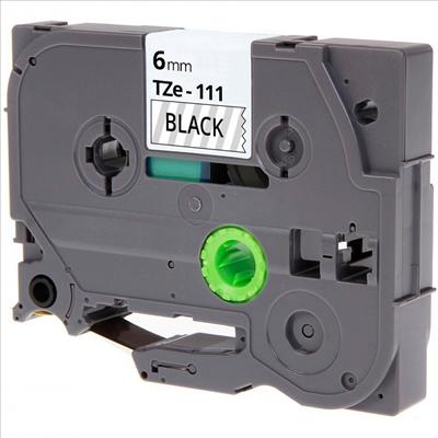 TZe111 Alternativ Farbband Black on Clear für Bro / TZe111
