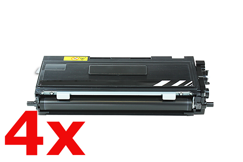 4er Set TONTN2000HC Alternativ Toner Black für Bro / TN2000HC / 4x5.000 Seiten