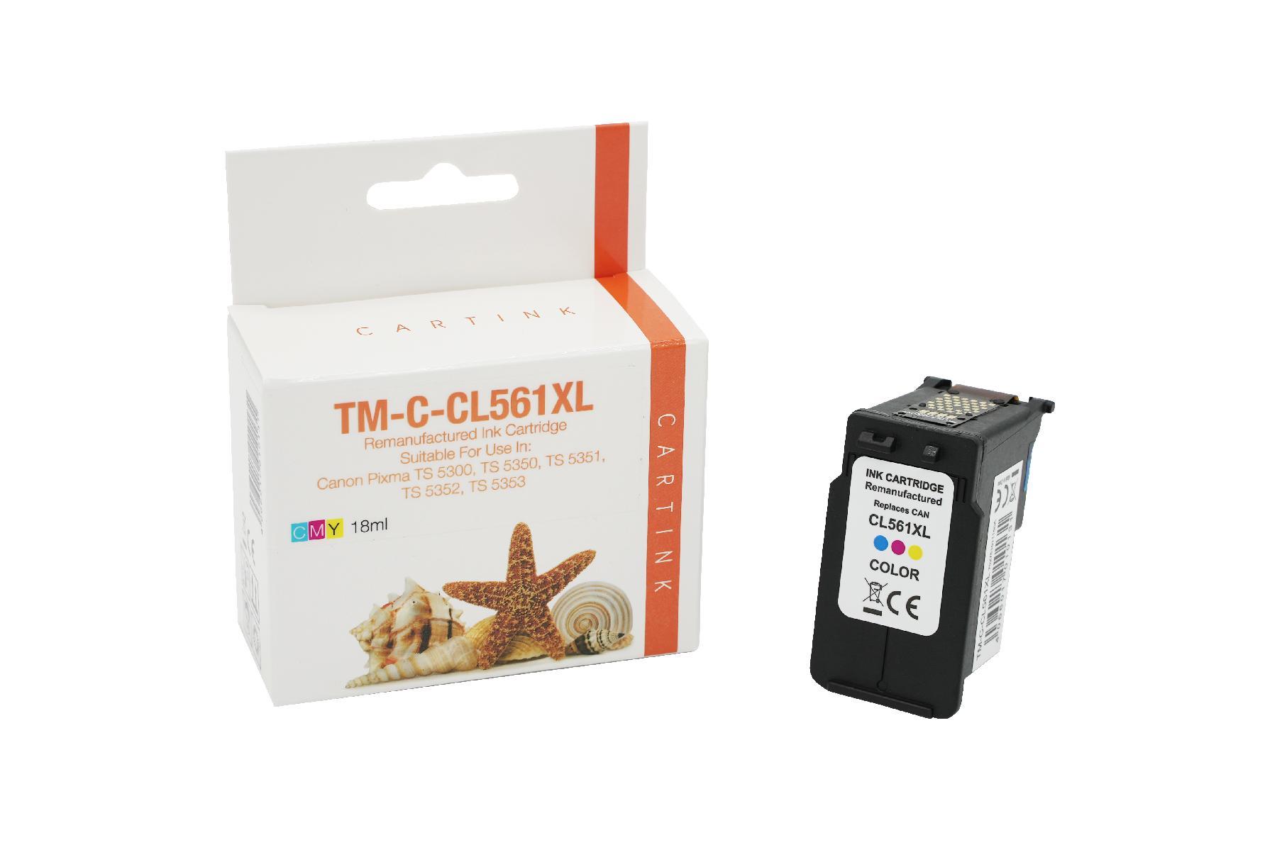 Refill Tinte Color für Canon / 3730C001 / 18ml 48 mehr Inhalt