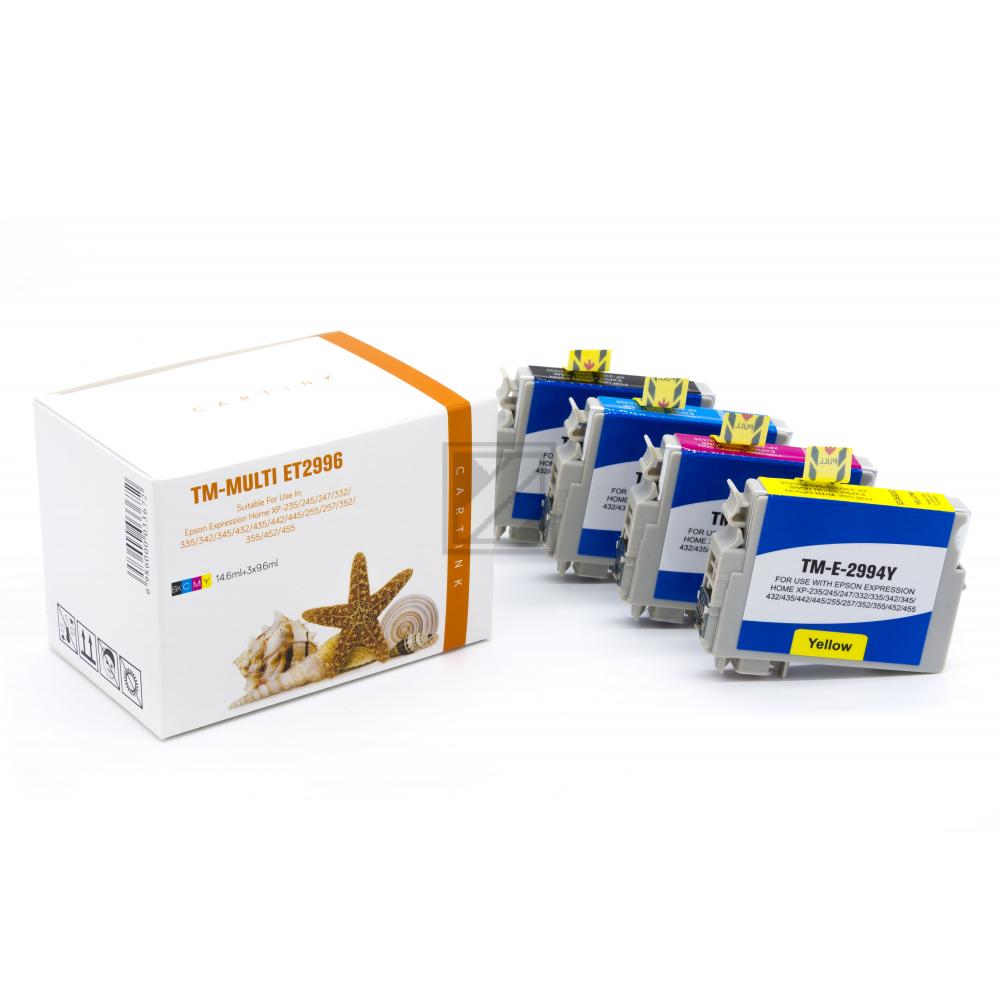 Alternativ Tinte für Epson / C13T29964010/29XL/BK14,6ml/C,M,Y9,6ml (PATENT