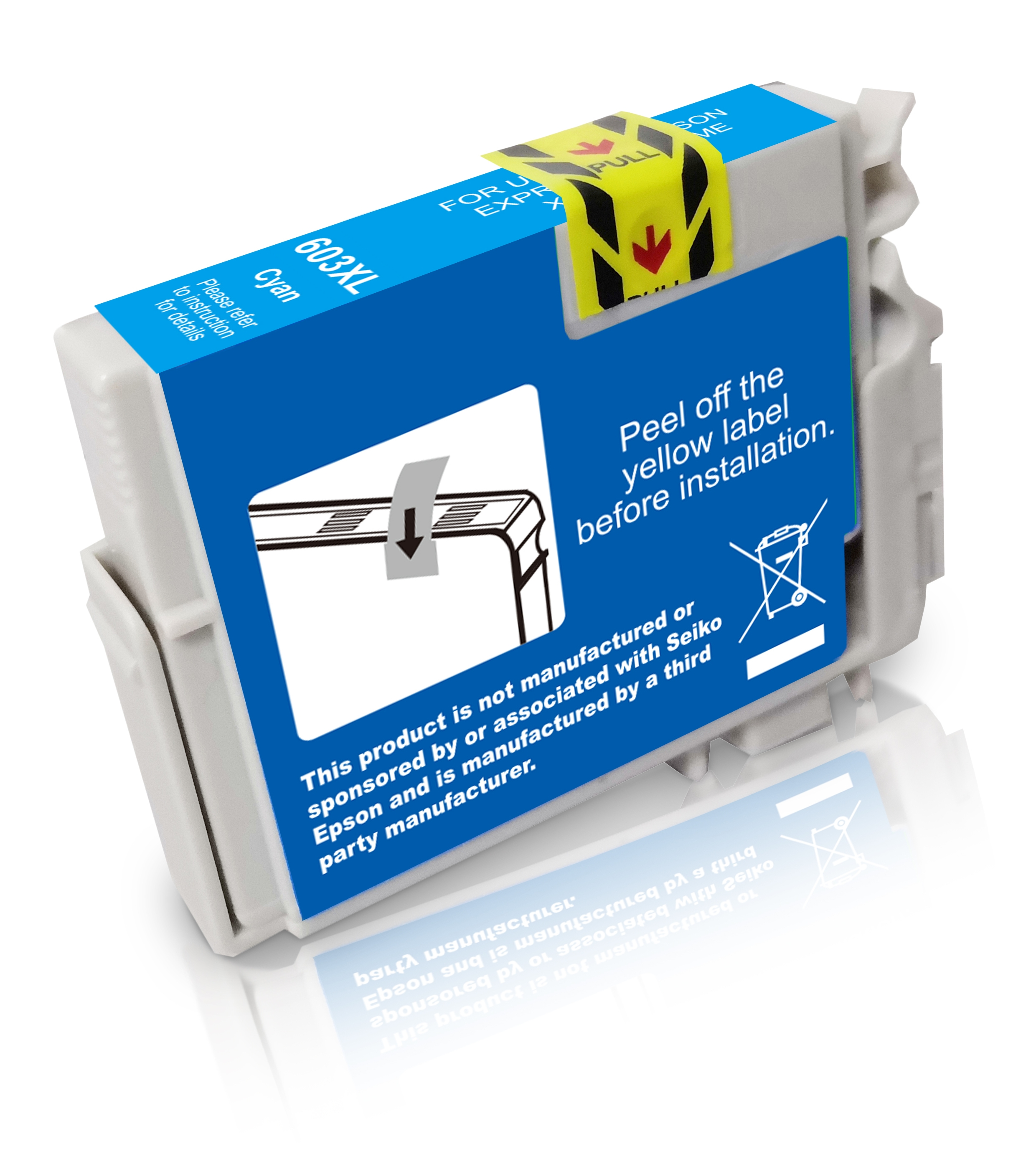 T603XLC Alternativ Seestern Tinte Cyan für Epso / C13T03A24010 / 9ml / 350 Seiten