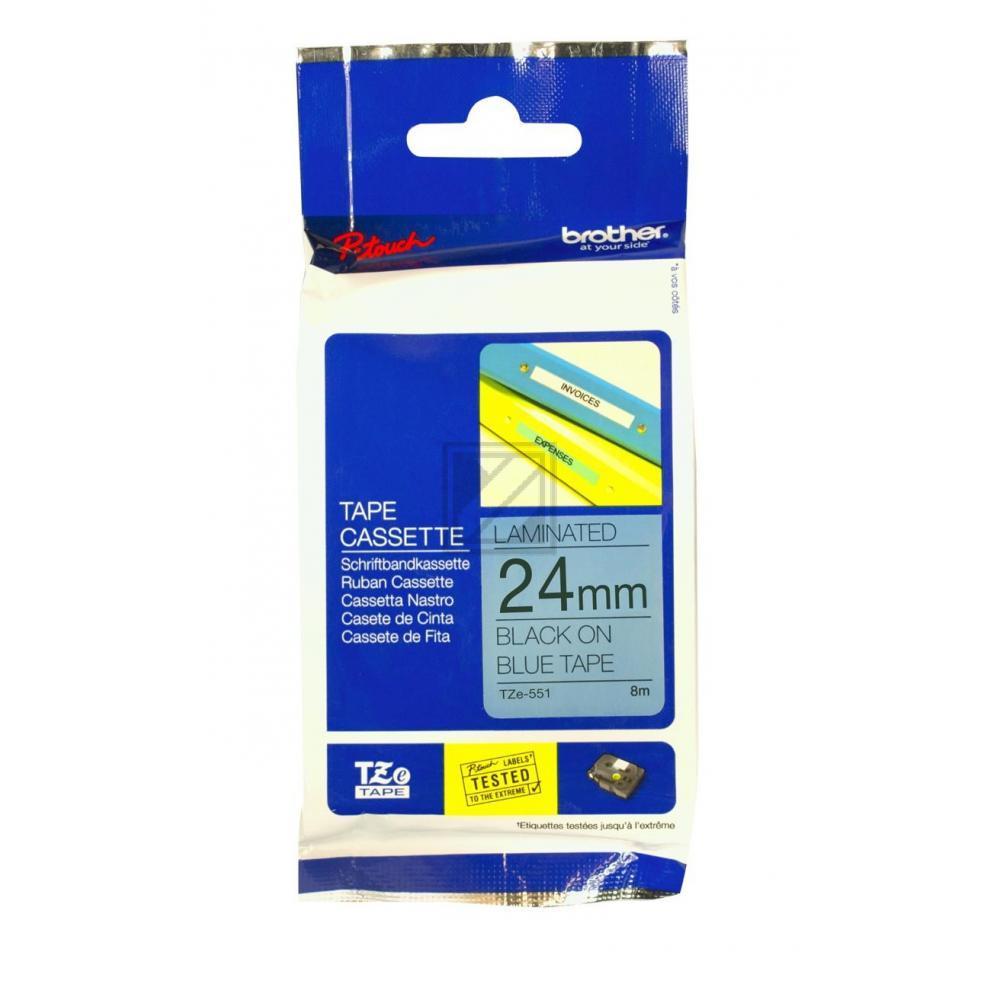 TZE551 / original / Farbband black blue / TZE551