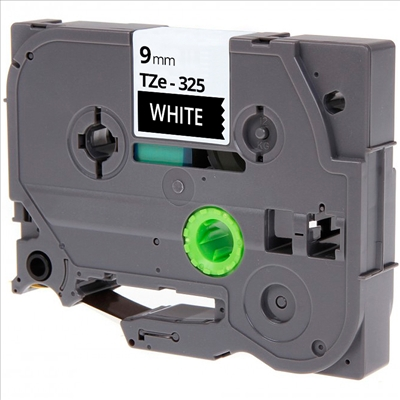 TZe325 Alternativ Farbband White on BK für Brothe / TZe325