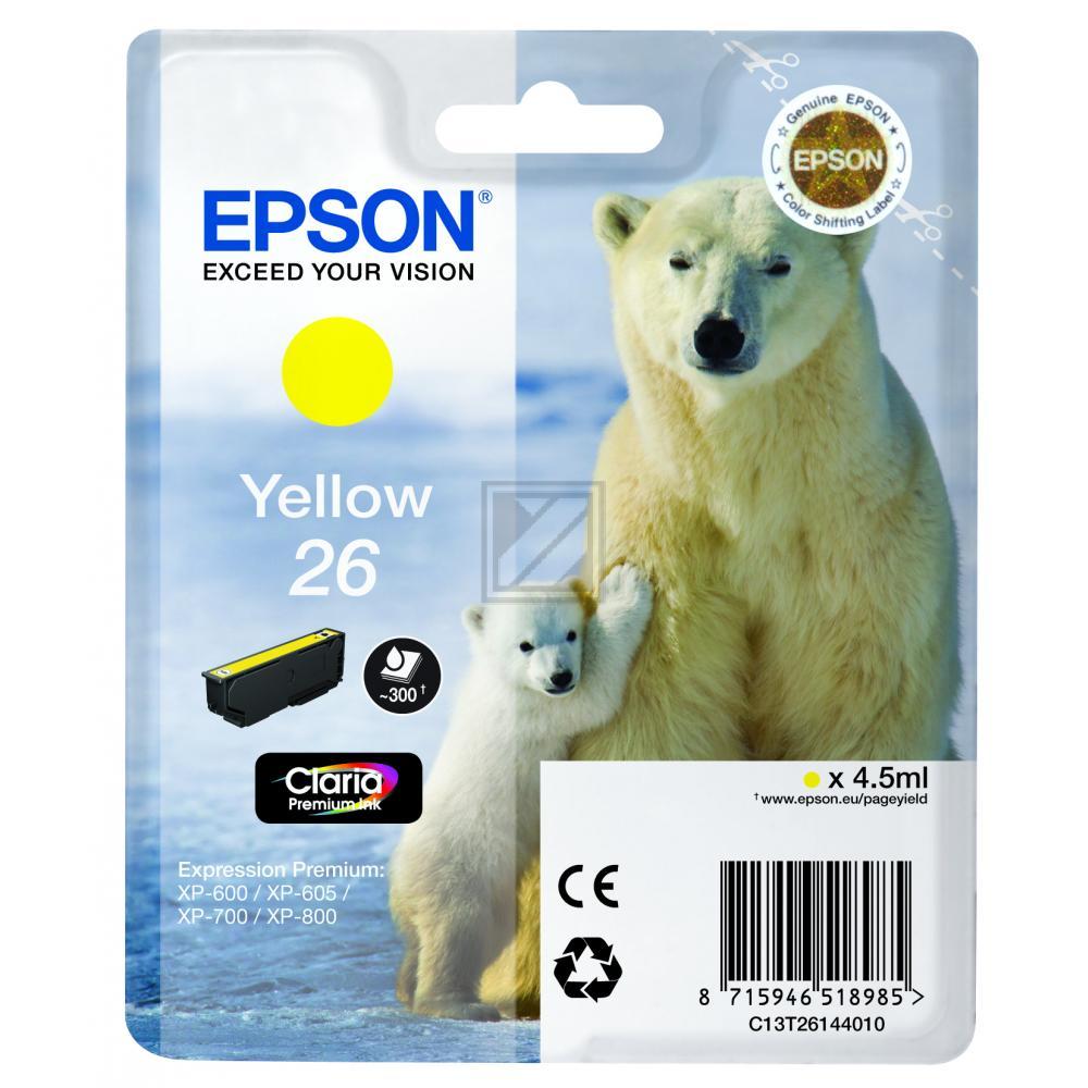 Nr. 26 // C13T26144012 //Yellow // original // Tin / C13T26144010 // C13T26144012