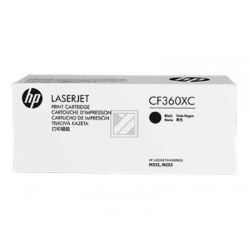 CF360XC Original Contract Toner Black für HP / CF360XC // LJEM550 / 12.500 Seiten